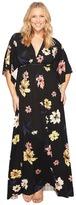 Rachel Pally Plus Size Long Caftan Drawstring WL Print Women's Clothing