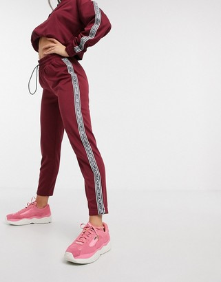 Juicy Couture Jxjc Tricot Logo Stripe Pant co-ord in red