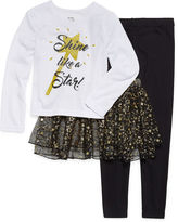 Asstd National Brand Girls Kids Tutu 3 PC Pajama Set-Toddler