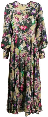 Rotate by Birger Christensen Floral Long-Sleeved Maxi Dress