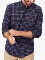 Joules Welford Check Shirt, Brown Navy Check