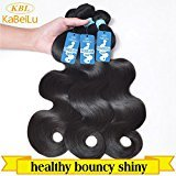 "KBL Grade 5A 3 Bundles Brazilian Body Wave Brazilian Virgin Remy Human Hair Natural Black 300G (14"" 16"" 18"")"