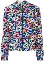 Love Moschino hearts print bomber jacket