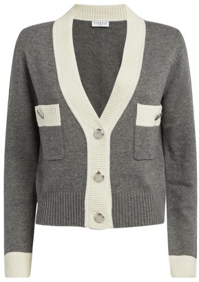 Claudie Pierlot Contrasting-Trims Cardigan