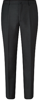 Hackett London Sharkskin Super 110s Wool Suit Trousers, Charcoal