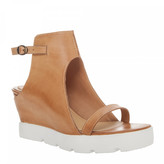 Max Studio Zine - Burnished Leather Cut Out Bootie
