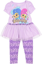 Children's Apparel Network Purple Shimmer & Shine 'Be Dazzling' Tee & Leggings - Toddler