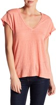 Velvet by Graham & Spencer Romana Linen V-Neck Tee