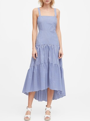 Banana Republic Petite Stripe Tiered Maxi Dress