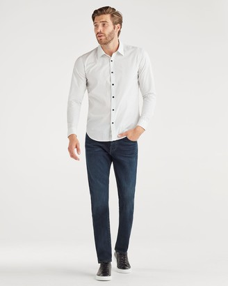 7 For All Mankind Luxe Performance Adrien Slim Tapered with Clean Pocket in Wilshire