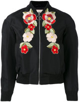 Gucci floral embroidered bomber jacket - women - Silk/Cotton/Polyamide/metal - 36