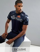 Ellesse Sport T-shirt With Contrast Camo Panel