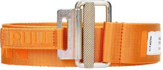Heron Preston Tape Belt 4cm Belts In Orange Synthetic Fibers