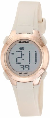 Armitron Sport Women's Digital Chronograph Blush Pink Resin Strap Watch 45/7135PBH