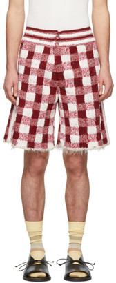 Judy Turner Red and White Crochet Dean Shorts