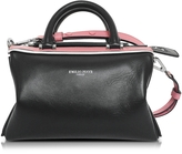 Emilio Pucci Black Leather Signature Top Handle Habdbag