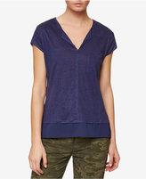Sanctuary Split-Neck Layered-Look T-Shirt