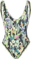 Ermanno Scervino cactus print swimsuit
