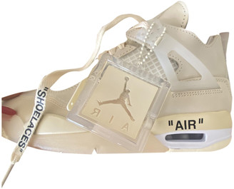 Nike x Off-White Air Jordan 4 Beige Rubber Trainers