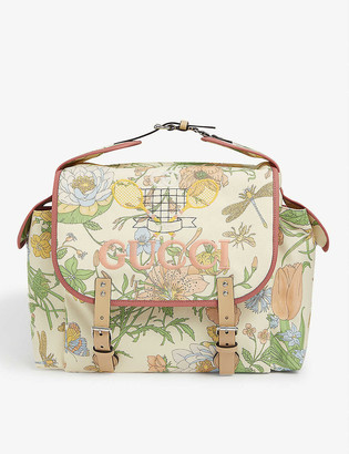Gucci Floral canvas backpack