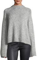 AG Adriano Goldschmied Noelle Mock-Neck Wool-Blend Sweater