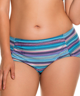 Dorina Teal Stripe Laguna Bikini Bottoms
