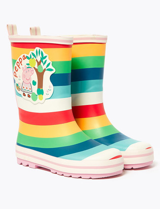 Marks and Spencer Kids' Peppa Pig Striped Wellies (5 Small - 12 Small)