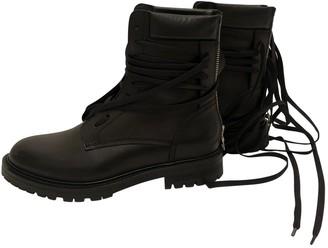 Amiri Black Leather Boots