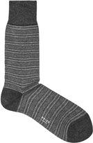 Reiss Reiss Sammy - Striped Socks In Grey, Mens