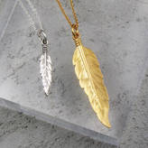 Black Pearl Feather Necklace