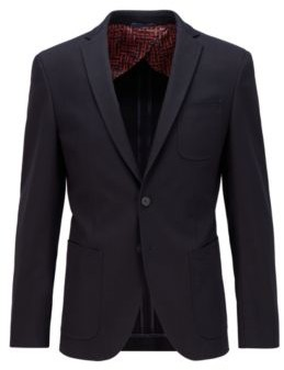 HUGO BOSS Extra-slim-fit stretch-cotton jacket with patch pockets