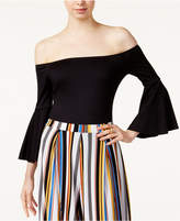 Bar III Off-The-Shoulder Bell-Sleeve Bodysuit, Created for Macy's