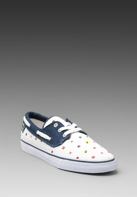 Lacoste Live Barbuda NFP in White/Navy