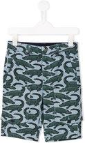Stella McCartney crocodile print trousers - kids - Cotton - 12 yrs