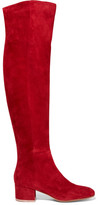 Gianvito Rossi Suede Over-the-knee Boots - Claret