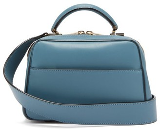 Valextra Serie S Small Leather Cross-body Handbag - Womens - Blue