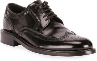 Saint Laurent Men's Army 20 Leather Brogue Derby Shoes