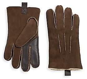 UGG Men's Contrast Shearling Gloves