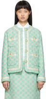 Gucci Blue Tweed GG Blazer