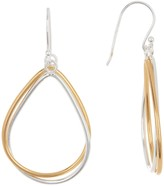 Argentovivo 18K Gold Plated Sterling Silver Pear-Shaped Drop Earrings