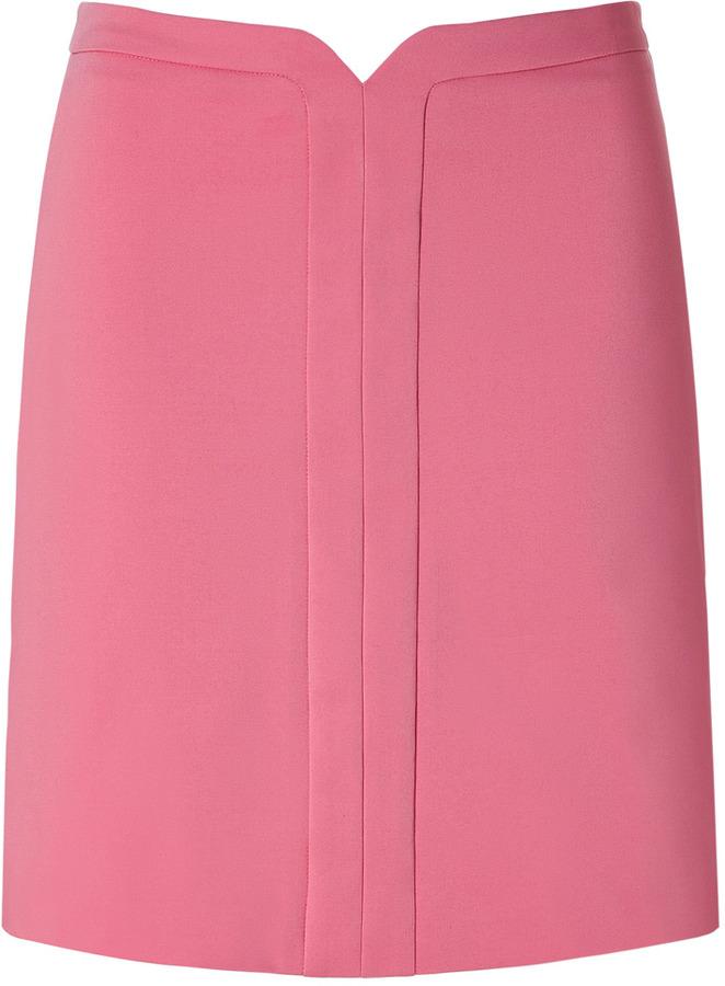 Cacharel Flamingo Pink Stretch Cotton Mini-Skirt