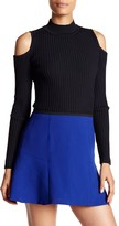 Jessica Simpson Albia Cold Shoulder Ribbed Sweater