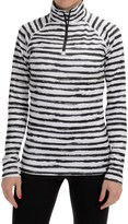Neve Stripe Print Shirt - Zip Neck, Long Sleeve (For Women)