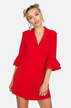 Girls On Film Outlet Lipa Button Front Blazer Dress
