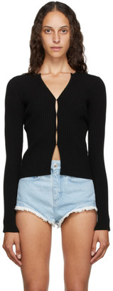 Marques Almeida SSENSE Exclusive Black Rib Knit Cardigan