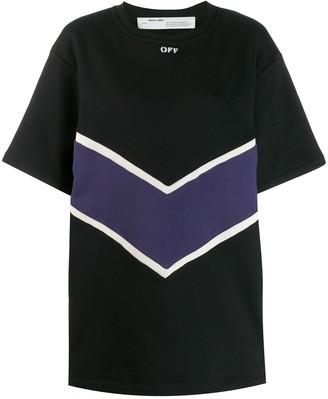 Off-White Intarsia Short Dress