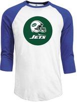 Hera-Boom Men's NY New York Jets Football Helmets Logo Baseball Tshirt RoyalBlue L (3 Colors)