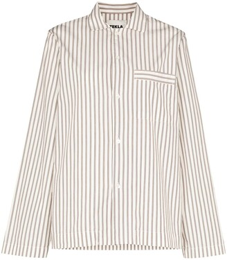 Tekla Striped Pyjama Shirt