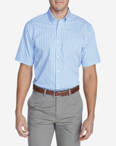 Eddie Bauer Men's Wrinkle-Free Classic Pinpoint Oxford Short-Sleeve Shirt - Blues