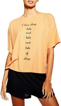 Topshop 2-Piece I Love Sleep Slogan Pyjama Set